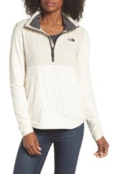 The North Face Mountain Sweatshirt Quarter Zip Pullover Vintage White