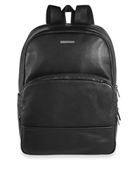 Hugo Boss Pebbled Leather Backpack Black