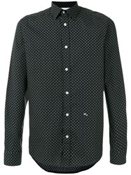 Diesel Cross Detail Printed Shirt Black