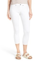 Hue Super Smooth Denim Capri Legging White
