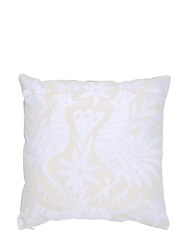 Aniza Oto Hand Embroidered Feather Pillow