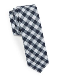 Original Penguin Skinny Gingham Tie Navy