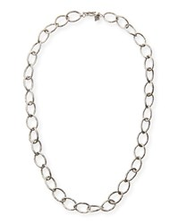 Sterling Silver Twisted Link Necklace 20'L Armenta White