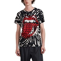 Madeworn Rolling Stones Tie Dyed Cotton T Shirt Black
