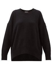 Allude Round Neck Cashmere Sweater Black