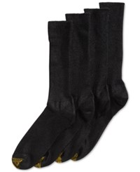 Gold Toe Men's Socks Adc Acrylic Fluffies 3 Pack Crew Casual Socks 1 Pair Black