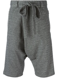 Unconditional Belted Drop Crotch Track Shorts Grey