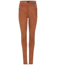 Isabel Marant Eydie Suede Trousers Brown