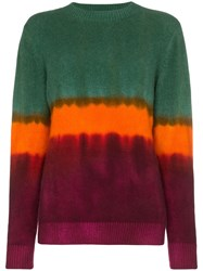 The Elder Statesman Tie Dye Cashmere Sweater Green