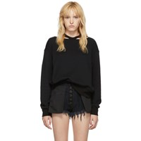 Unravel Black Cut Out Crewneck Sweater