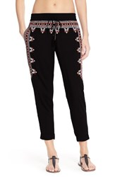 Women's Green Dragon Embroidered Beach Pants