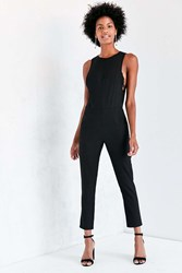 Kensie Modern Sleeveless Crepe Jumpsuit Black