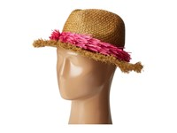 Echo Palm Fringe Panama Beach Hat Rum Caps Brown