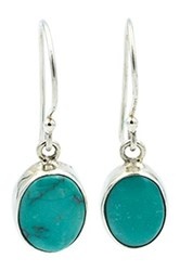 Exex Design Jewelry Sterling Silver Mexico Turquoise Drop Earrings Blue