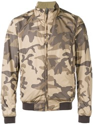 Woolrich Camouflage Reversible Bomber Jacket Men Polyamide Polyester M Nude Neutrals
