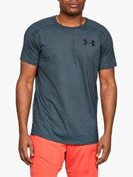 Under Armour Mk 1 Short Sleeve Embossed Training Top Wire Black
