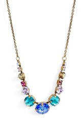 Sorrelli Delicate Round Crystal Necklace Gold Multi