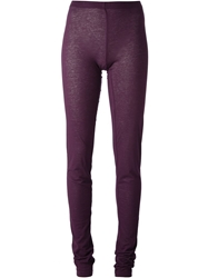 Ann Demeulemeester Blanche 'Siene' Leggings Pink And Purple