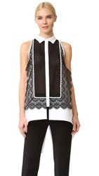 Antonio Berardi Sleeveless Blouse Black White