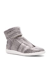 Maison Martin Margiela Maison Margiela Water Snake Future Hi Tops In Black White Animal Print