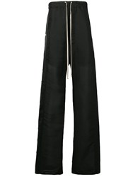 Rick Owens Long Pusher Track Pants Black