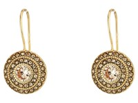 Lauren Ralph Lauren Vintage Crystal Drop Earrings Crystal Light Topaz Gold Earring