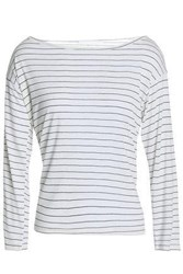 Kain Label Amelia Striped Stretch Modal Top White