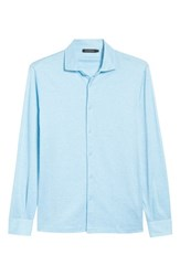 Bugatchi Regular Fit Silk Blend Sport Shirt Air Blue