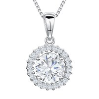 Jools By Jenny Brown Cubic Zirconia Pendant Necklace Silver