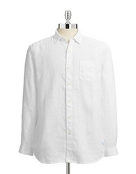 Tommy Bahama Relax Linen Shirt White