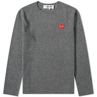 Comme Des Garcons Play Knitted Crew Sweat Grey