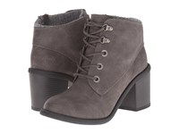 Blowfish Misty Grey Texas Pu Knit Cuff Women's Lace Up Boots Gray
