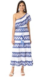 Miguelina Madeline One Shoulder Maxi Dress Mediterranean Blue