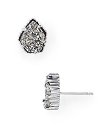 Kendra Scott Tessa Stud Earrings Platinum Drusy Silver