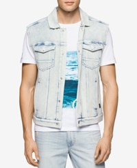 Calvin Klein Jeans Men's Raw Edge Denim Punk Vest Classic Navy
