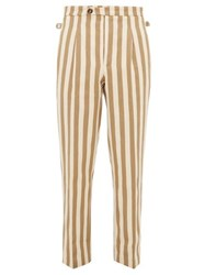 King And Tuckfield Striped Cotton Trousers White Multi