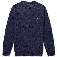 Fred Perry Tipped Crew Jumper Blue