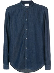 Dondup Classic Fitted Shirt Cotton Xl Blue