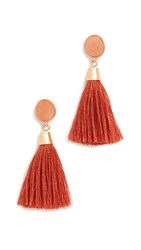 Madewell Stone And Tassel Earrings Red
