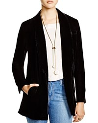 Free People Slouchy Velvet Blazer Black