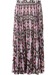 Elle Sasson Mosaic Print Pleated Skirt Pink And Purple