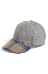 Women's Bp. Plaid Brim Ball Cap Grey Grey Multi
