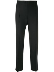 Agnona Cropped Tailored Trousers Black