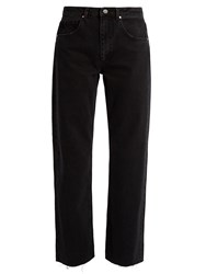 Raey Press Straight Leg Jeans Black