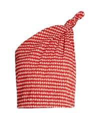 Rosie Assoulin One Shoulder Gingham Top Red Print