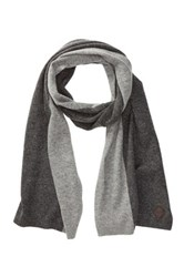 Cole Haan Wool And Cashmere Blend Colorblock Scarf Gray