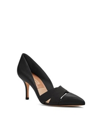 Michael Kors Stephanie Leather And Elastic Pumps Black