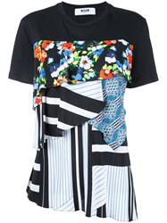 Msgm Patchwork T Shirt White