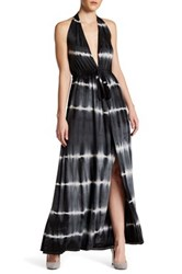 Go Couture Tie Dye Halter Maxi Dress Beige