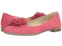 Ecco Shape Tassel Ballerina Raspberry Calf Nubuck Women's Slip On Shoes Pink
